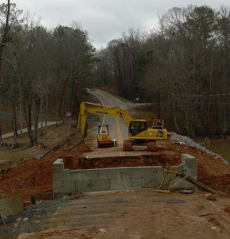 lake martin bridge construction