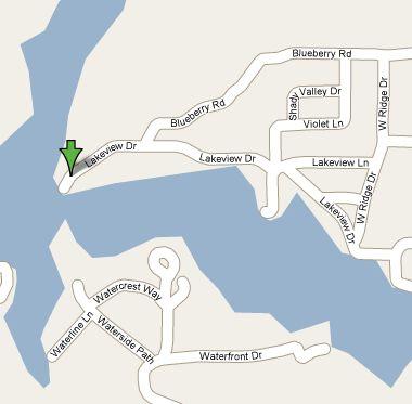 Google map lake martin