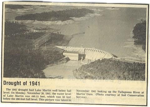 Lake martin drought 1941